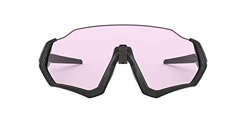 Oakley Flight Jacket Occhiali, Nero, 55mm Uomo