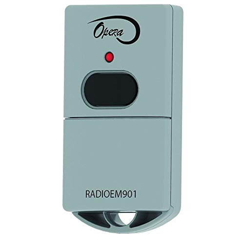 Fantastic Deal! Manaras-Opera RADIOEM-901 1-Button Keychain Garage Door Opener Transmitter (Repl