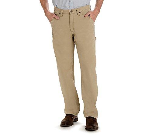 Lee Herren Latzhose Straight Leg Carpenter Jeans - Beige - 30W / 30L