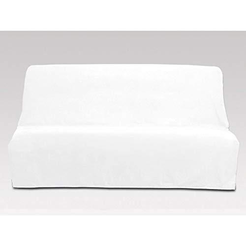 Soleil d'ocre Funda sofá-Cama de algodón Panama Blanco