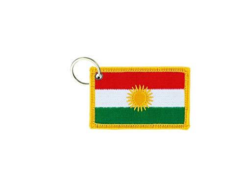 akachafactory Schlüsselanhänger Fahne Flagge flaggen Bestickt anhänger Kurdistan kurdische
