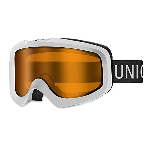 Unigearスキーゴーグルダブルレンズ曇り止めスキーゴーグルスノーボードゴーグル100%UVカットフィット感がいいスノーゴーグル9色雪山やスキーなど用大人青少年男女兼用SkidoX1(⑥オレンジレンズVLT47.6%)