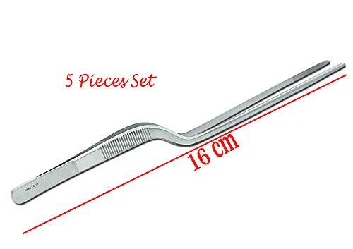 SMI - 16 cm grillpincet keukenpincet professioneel voedseltang roestvrij staal keukengerei koken pincet - 5 stuks set