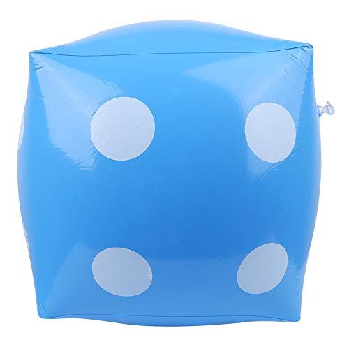 Aufblasbare Würfel, tragbare aufblasbare PVC-Würfel, Zubehör für Partys im Freien, große aufblasbare Würfel Prop Spielzeug für Kinder, großer Hocker, Verbesserung der Eltern-Kind-Interaktion(Blau)