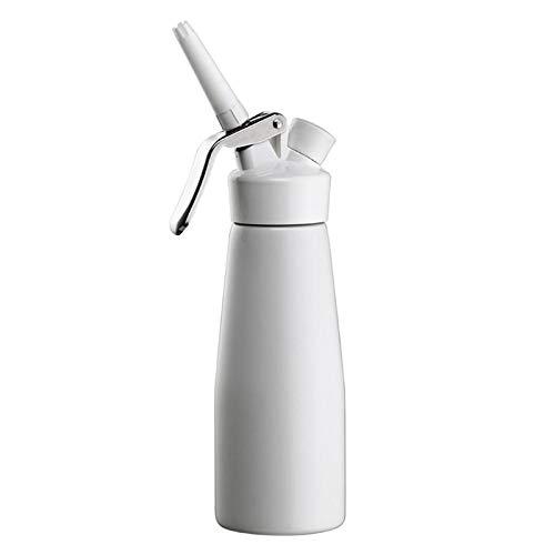 SCAYK 2021 Calidad 500 ml Dispensador de Crema Batida Artesanal, Whipper de Crema con boquillas de decoración (00230) Crema fría Cracker Crema Crema DE Crema DE Crecimiento (Color : White)