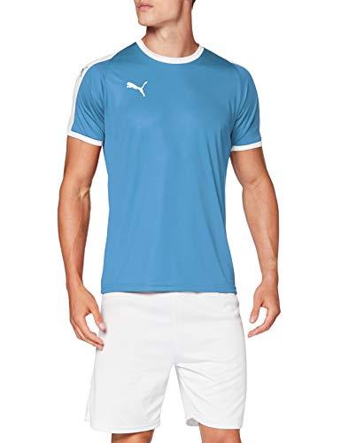 Puma Herren Liga Jersey T-Shirt, Silver Lake Blue White, L
