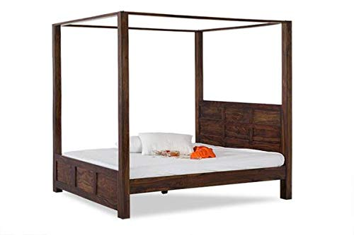 MP Wood Furniture Sheesham Solid Wood Romeo Poster Bed for Your Beautiful Bedroom