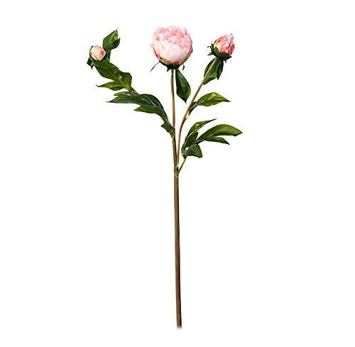 EUROCINSA Ref.61701C21 pioenroos met 2 rozen, doos met 12 stuks, 53 cm