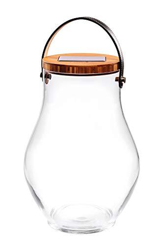 Krinner Deco Glass Bold 22520 Dekoleuchte LED Klar, Bambus, Schwarz