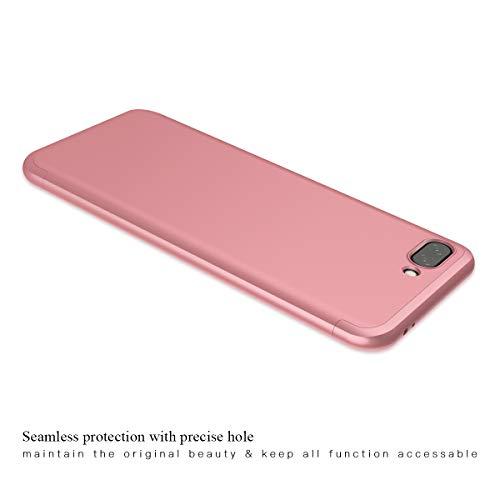 CE-Link Huawei Honor 10 Hülle Hardcase 3 in 1 Handyhülle 360 Grad Hard Hartschale Grad Full Body Case Cover Schutzhülle Bumper - Rose Gold - 5