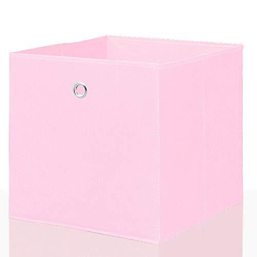 Mixibaby Faltbox Faltkiste Regalkorb Regalkiste Regalbox Aufbewahrungsbox 4 er Set, Farbe:Rosa, Größe:26 cm x 26 cm