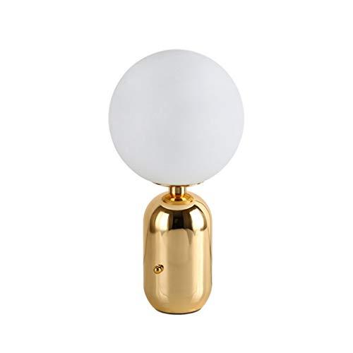 Tafellamp bedlampje melkwitte bol glas lampenkap slaapkamerlamp Nordic hardware coating bureaulamp slaapkamer slaapkamer woonkamer bureaulamp