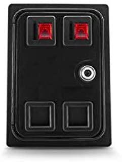 Double 2 Player Arcade Coin Door. US Quarter Acceptor X-Arcade