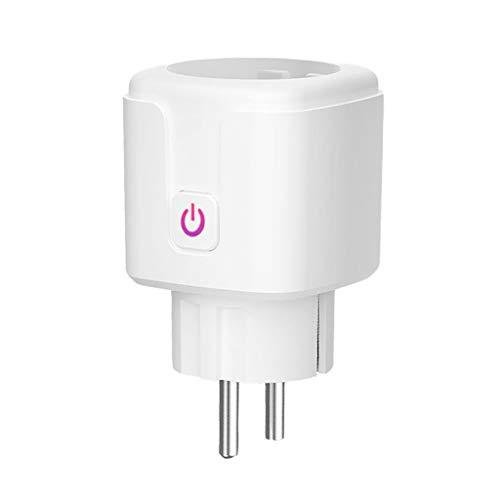 Kdjsic 16 A EU WiFi Enchufe inteligente con monitor de alimentación APP mando a distancia ajuste de sincronización programada, compartido inteligente