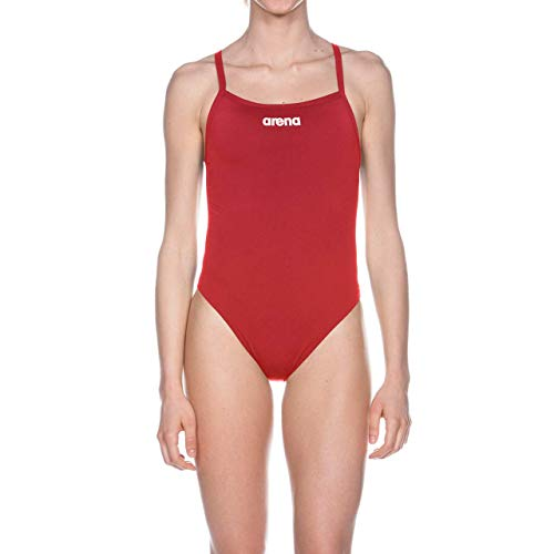 Arena W Solid Light Tech High, Costume Sportivo Donna, Rosso (Red/White), 40