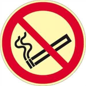 Stickers roken verboden volgens ISO 7010 HIGHLIGHT folie 20 cm Ø