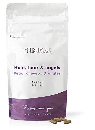 Flinndal - Huid haar nagels - 90 tabletten - Vitamine C voor stevigheid van de huid - Vitamine B8, selenium en zink voor haar en nagels