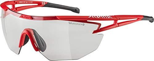 ALPINA EYE-5 SHIELD VL+ Sportbrille, Unisex– Erwachsene, red matt-black, one size