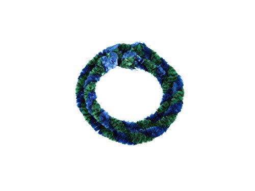 FEZ Nabenputzringe Grün/Blau (Set 1x 25cm + 1x 30cm für Fahrrad)