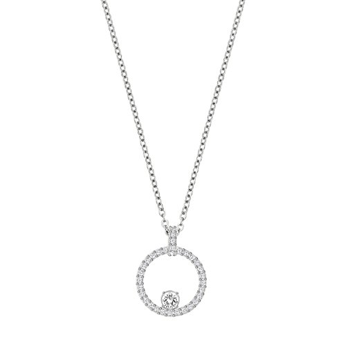 Swarovski Pendente Creativity Circle, Bianco, Placcatura Rodio
