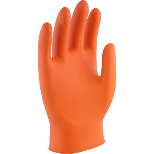 Guantes de un solo uso de NITRILO Flash Orange Power Sin Polvo - (M, L o XL) (XL)