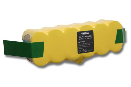 vhbw Batería Ni-MH 3000mAh (14.4V) compatible con iRobot Roomba 774, 775, 775 Pet, 776, 776p, 782, 782E aspirador, robot aspirador reemplaza 11702