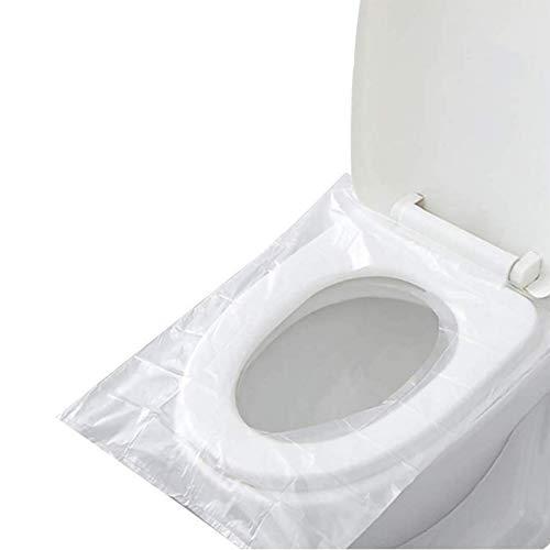Cubiertas desechables del asiento del inodoro para viajar 50 piezas impermeables portátil WC Almohadilla toilet Mat para embarazada mamá paquete independiente