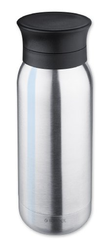 Isosteel VA-9717 Vakuum Isoliertrinkflasche 0,35 Liter, 18/8 Edelstahl, Anti-Rutsch Boden, Trinkdeckel mit Rückhalteeinsatz Isolier,Trinkflasche