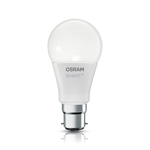 OSRAM Smart+ Lot de 4 Ampoules LED Connectées - Culot B22 - Forme Standard - Dimmable - 16 Millions de couleurs - 10W (équivalent 60W) - Zigbee - Compatible Android & Amazon Alexa