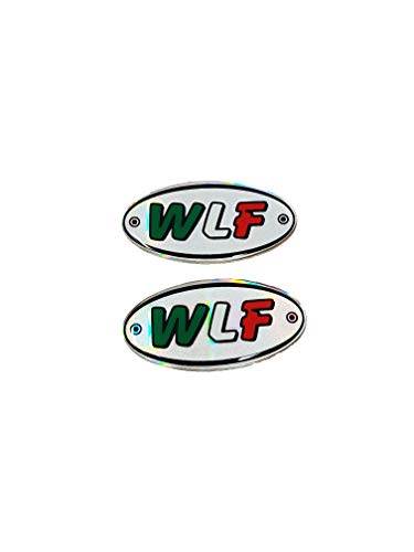4R Quattroerre.it 14011 Sticker Adesivo 3D Ovale Wlf, 56 x 28 mm, Set di 2