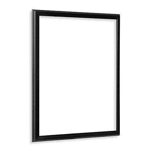 Bildershop-24 Leerrahmen (ohne Rückwand und Glas) Barockrahmen Kalypso 80 X 120 cm Schwarz (matt) Farbe und Größe wählbar