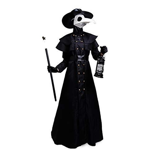 Disfraz De Mscara De Cuervo De Pico Para Adulto Vestido De Halloween Para Mujer Fiesta De Carnaval Disfraces De Halloween De Terror Para Mujer, Disfraz De Vampiro Fiesta De Disfraces Cosplay,Black-M