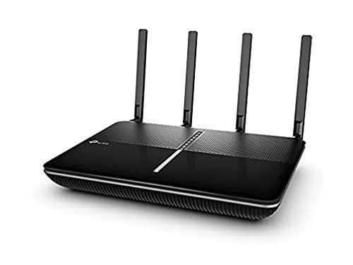 TP-Link Archer VR2800 Modem Router, Wi-Fi AC2800 Dual Band, ADSL/VDSL/Fibra, 4 Porte Gigabit, Wi-Fi Avanzata MU-MIMO 4 Stream, 2 USB 3.0, CPU Broadcom Dual-Core, Nero