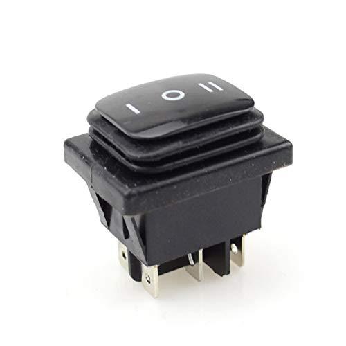 Jgzwlkj Interruptores basculantes 16A 250VAC 20A 125VAC Barco de Coche Fijo y momentáneo On-Off-On SPST 6 Pin Rocker Rocker Switch 3 Posición Plástico Impermeable (Color : Fixed)