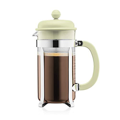 Bodum 1918-339B-Y19 CAFFETTIERA Kaffeebereiter mit Kunststoffdeckel, 8 Tassen, 1.0 l, Edelstahl, Glas