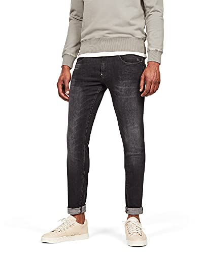G-STAR RAW Herren Revend Skinny Jeans, Schwarz (Medium Aged Faded A634-A592), 32W / 32L