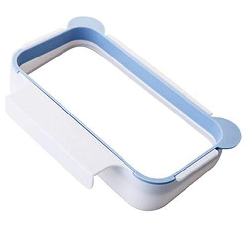JUNSHUO Soporte para Bolsas de Basura para Colgar Basura on Armario de Cocina Ideal como Sustituto para el Cesto de Basura (Azul)
