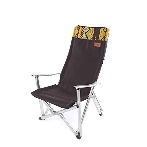 LIN HE SHOP Chaise de Plage Se Pliante extérieure de Loisirs, Tabouret de Chaise de pêche, Chaise inclinable, Chargement 120KG, 62 × 70 × 103CM