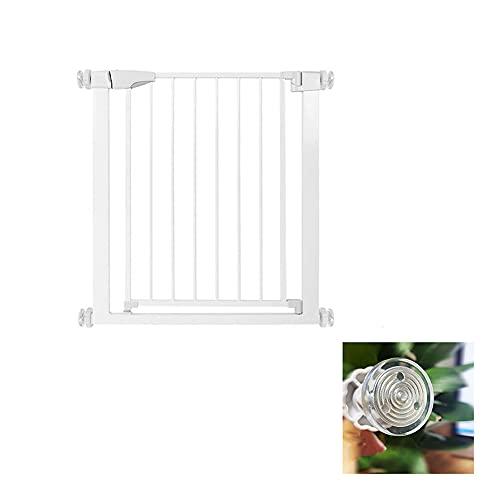 Valla de puerta de seguridad, puerta metálica de cierre simple, 75-82 cm de ancho, cerca de puerta protectora de escaleras sin perforaciones, cerca protectora de aislamiento(Size:61-68cm,Color