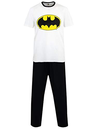 Batman Pigiama per Uomo DC Comics Bianco Large