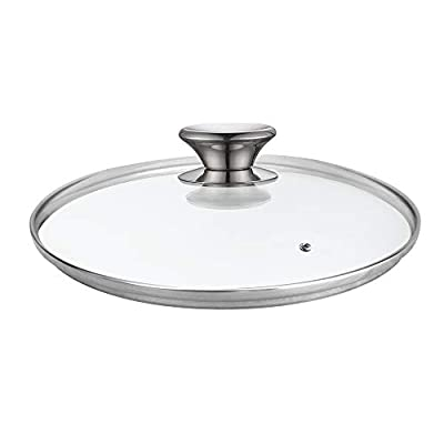 Cook N Home 02573 Tempered Glass Lid, 9.5-inch/24cm, Clear