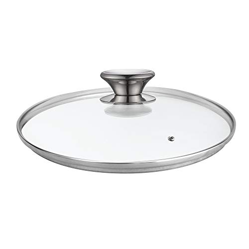 Cook N Home Tempered Glass Lid, 9.5-inch/24cm, Clear