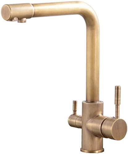 Grifo de baño Bidet Fregadero de cocina Grifo de agua potable giratorio de latón de 3 vías Purificador de filtro de agua