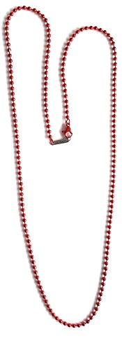 Marsoxx - Collana da uomo in acciaio INOX, colore: rosso
