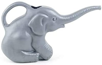 Bangerz Sunz Elephant Watering Can, 2 qts, Novelty Indoor Watering Can, Decorative and Functional Watering Can (63182) 0.5 Gallons, Gray