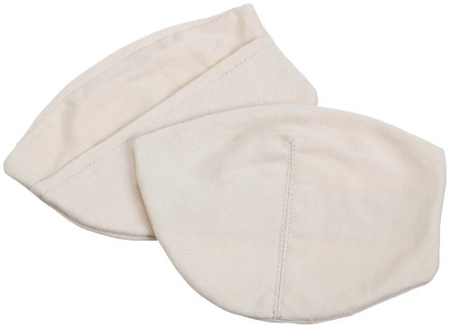 Pure Style Girlfriends Soft Sweat Absorbent Cotton Bra Insert Covers, Nude, One Size