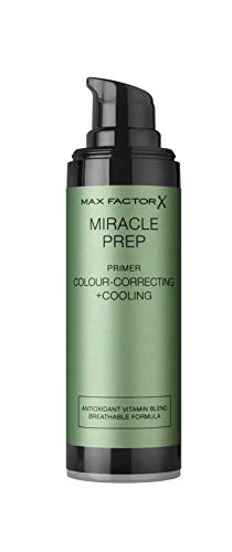 Max Factor Miracle Prep Colour Correcting + Cooling Primer – Kühlender Primer mit Hyaluronsäure – Beruhigt die Haut und neutralisiert Rötungen – Mit Oil-Control-Komplex