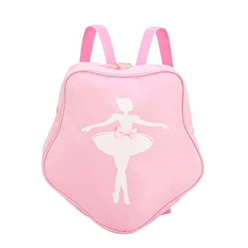 TENDYCOCO Ballerina Backpack Ballet Dance Rucksack Toddler School Bag Daypack Shoulder Bag for Little Girls