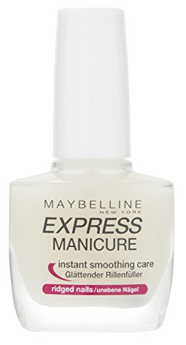 Maybelline New York Make-Up Nailpolish Express Manicure Nagellack Rillenfüller / Base Coat Nagellack für glatte Nägel, 1 x 10 ml
