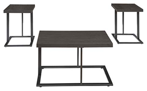 Signature Design by Ashley - Airdon Contemporary 3-Piece Table Set - Includes Coffee Table & 2 End Tables, Bronze Finish